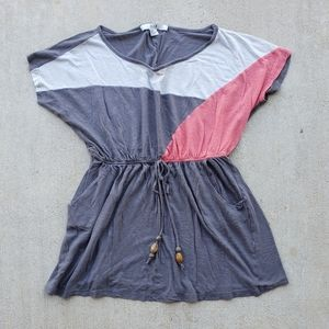 Forever21 Grey and Pink Tunic.